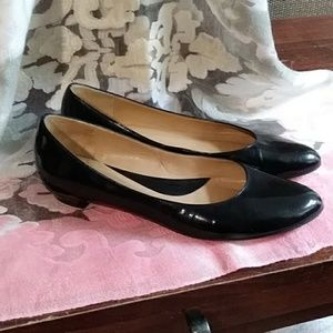 Faconnable Black patent leather flats